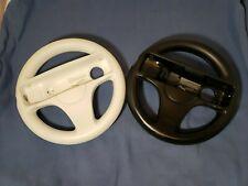 2 OEM Official Nintendo Wii Mario Kart Steering Wheels RVL-024 - White/Black