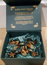 Golden Pond Collection - Ceramic Green & Brown Frog - Handmade Fine Art - New
