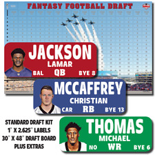 "2020 IMAGE Fantasy Football Draft Kit - 1"" x 2.625"" Player Labels & Draft Board"