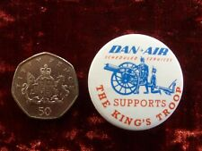 Vintage Dan-Air Badge Aviation Scheduled Services Supports the King's Troop