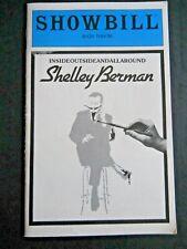 October 1980 - The Bijou Theatre Showbill - Shelly Berman