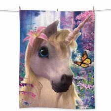 Wild Star Hearts - SPARKLES UNICORN - Beach Towel.