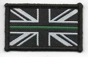 The Thin Green Line Ambulance Service Paramedic Patch Union Jack Flag 3 x 5cm