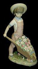 #1 LLADRO Daisa Bambino con carriola di fiori Statuina Ornamento da collezione D4