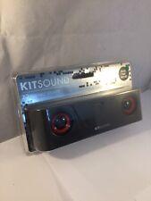 Kitsound X3 portátil de altavoces estéreo mini con cable 3.5mm Jack