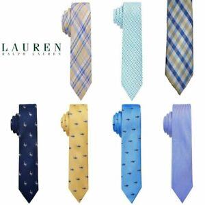 NWT RALPH LAUREN Boys 100% SILK Tie(One Size 8-20)