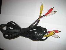 12' AV cord, red, yellow, white, heavy duty, w/warranty