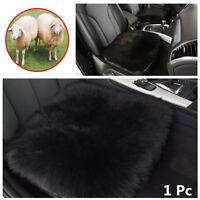 """AU Long Wool Car Seat Cover Pelt Sheepskin Chair Sofa Cushion Mat Pad 18""""x18"""""""