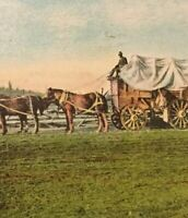 Postcard, 1910 Cariboo Freight Team, Ashcroft B.C. Canada Vintage P26