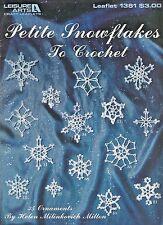 Petite Snowflakes to Crochet 35 Ornaments Pattern Designs Helen Milton LA 1381