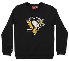 Reebok NHL Youth Pittsburgh Penguins Prime Crew Neck Fleece, Black