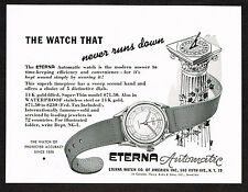 1940's Vintage 1948 Eterna Automatic Watch - Paper Print AD
