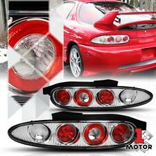 Chrome/Red *EURO ALTEZZA* Tail Light Brake Reverse Lamp for 92-96 Mazda MX-3 MX3
