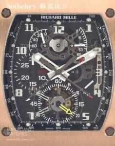 Sotheby's Catalogue Hong Kong Important Watches,  April 2017 HB