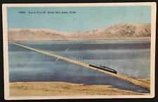 Lucin Cut-off Great Salt Lake Utah Carpenter Paper Co 15854