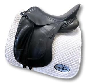 "Used Schleese Obrigado Dressage Saddle - Size 2-HW-SR 3-17.5"" Black"