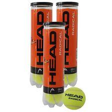 HEAD RADICAL TENNIS BALL TRIPLE PACK (1 dozen balls) FREE 48 HR TRACKED  POST