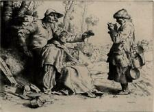 WILLIAM STRANG (1859-1921) Signed Etching MEALTIME 1882