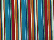 RICHLOOM COVERT FIESTA STRIPE BLUE OUTDOOR FURNITURE MULTIUSE FABRIC BY THE YARD