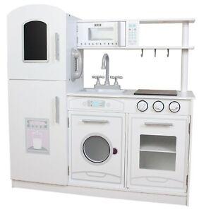 Kiddi Style Universal White Chefs XLarge Childrens Kids Play Toy Wooden Kitchen
