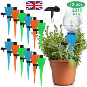 12X Universal Plant Pot Self Watering Bottle Spikes Dripper Drip Tips Irrigation