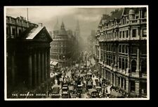 LONDON animated scene The Mansion House Tuck #3735 RP PPC