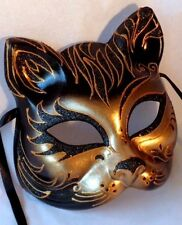 Tiger Cat Mask - Italian Made - OVERNIGHT TO YOU -Fancy Dress or Home Decor Mask