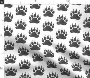 Bears Paws Bear Paw Spoonflower Fabric by the Yard