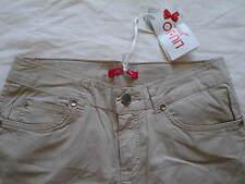 Pantalon fille LIU JO 14 ans XS 34 slim fit coton beige NEUF Etiq pants jean