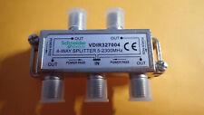 SCHNEIDER VDIR327004 - Repartiteur Antenne TV Coaxial LexCom 1 entrée 4 sorties