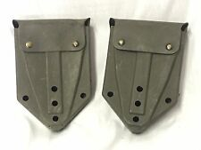 US ARMY USMC MILITARY E-TOOL ENTRENCHING FOLDING SHOVEL CARRIER COVER SET of 2