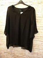J D Williams Capsule Black Layered Blouse Size 22