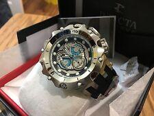 20423 Invicta Reserve Venom Hybrid Swiss Master Calendar Silver Tone Blue Watch