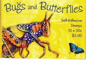 MINT 2003 BUGS AND BUTTERFLIES P&S  STAMP BOOKLET  - BARCODE 284