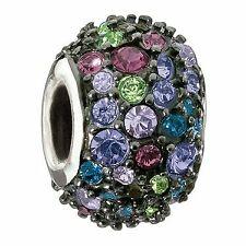 Chamilia Authentic Jeweled Kaleidoscope Mix & Black Charm #JC-6G