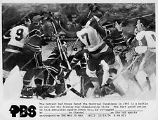 crp-41881 sports hockey Detroit Red Wings vs Montreal 1953 Stanley Cup PBS retro