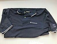 Mens Cutter & Buck Short Sleeved XL TG Navy Golf Shirt
