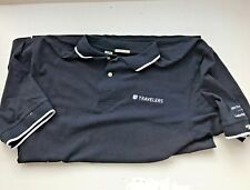 Mens Cutter & Buck Short Sleeved XL TG Navy Golf Shirt