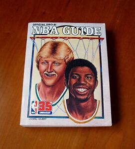 Larry Bird Magic Johnson Official 1980 -1981 NBA Guide Vintage Basketball Stats