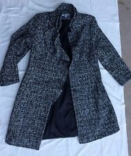 Wool Women 39 Percent /57 Polyester Long Jacket, Coat ~~ Size 12 Lined 100 Poly