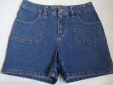 No Pattern Denim Shorts Size Petite for Women