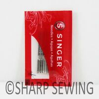 10 SINGER 2020 HOME SEWING MACHINE NEEDLES SIZE #18/110 15X1 HAX1 130/705H
