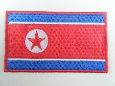 NORTH KOREA PATCH Top Quality Embroidered Iron On National Flag Badge NEW