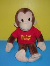 "Curious George Bean Bottom Plush Monkey 16"" Applause Stuffed Character w/ Shirt"