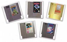 DRINK COASTER retro gaming NES CARTRIDGE ART print christmas BIRTHDAY gift