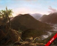 SUNRISE IN THE CATSKILL MOUNTAINS AMERICAN PAINTING ART REAL CANVAS GICLEEPRINT