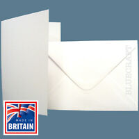 A5 C5 Premium White Card Blanks with Envelopes - Pre Creased  All Quantity Packs