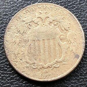 1873 Shield Nickel 5c High Grade XF Details #28842
