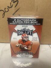 2021 Leaf Draft Football Factory Sealed Blaster Box-50 ROOKIES+2 AUTOGRAPHS!