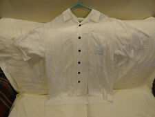 Tommy Bahama-Happy Holidays-2002 Camp/Casual Shirt-ss, white.  Medium  EUC